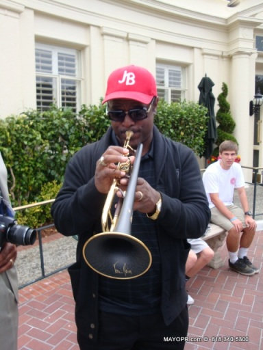 MAYO Communications with Jon Barnes on Trumpet at the Pebble Beach Concours D' Elegance.