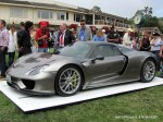 Shot of the new Porsche Concept car 918 Spyder at Concours d' Elegance