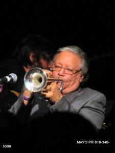 Arturo Sandoval playing trumpet (MAYO Communications)