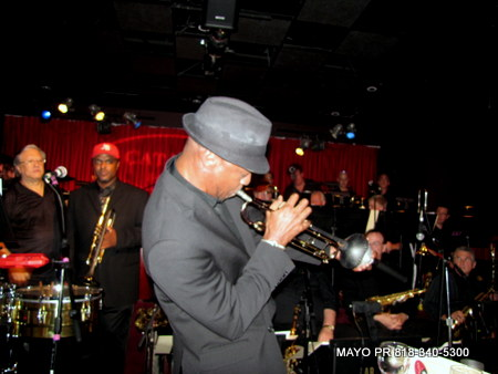 Skip Martin playing trumpet