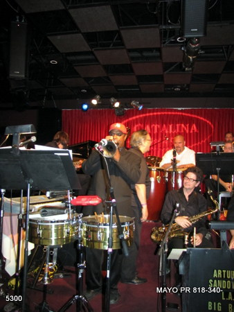 Long shot of Catalina Jazz Club stage with Jon Barnes